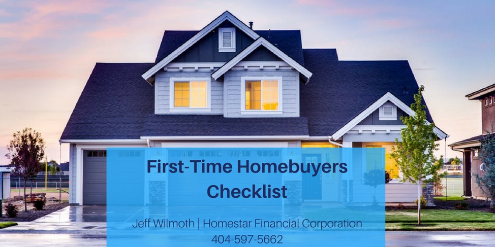atlanta mortgage broker first time checklist